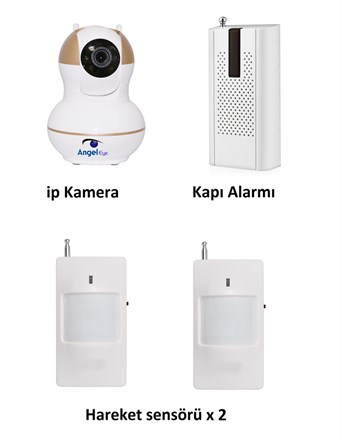 AngelEye KS-512 Full HD Wifi Ev ve Bebek iP Kamera 4in1 Full Set