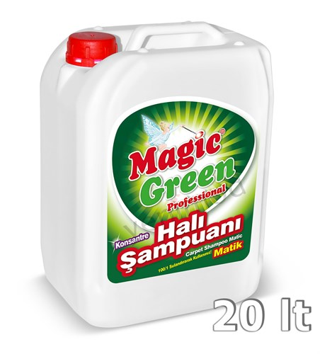 Magic Green Professional Konsantre Halı Şampuanı Matik 20 lt