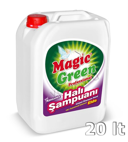 Magic Green Professional Konsantre Halı Şampuanı Elde 20 lt