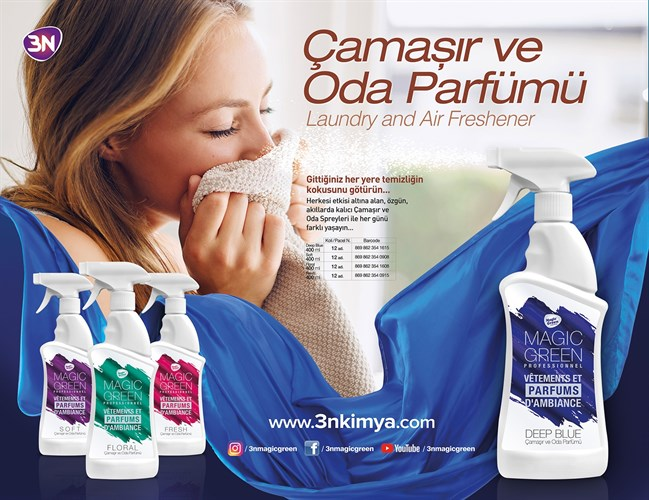 Magic Green Çamaşır ve Oda Parfümü Floral 400 ml